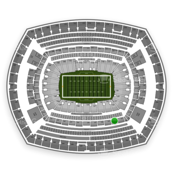 New York Giants at MetLife Stadium Section 234 View