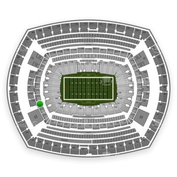 New York Giants at MetLife Stadium Section 248 View