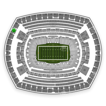 New York Giants at MetLife Stadium Section 305 View