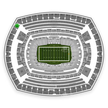 New York Giants at MetLife Stadium Section 306 View