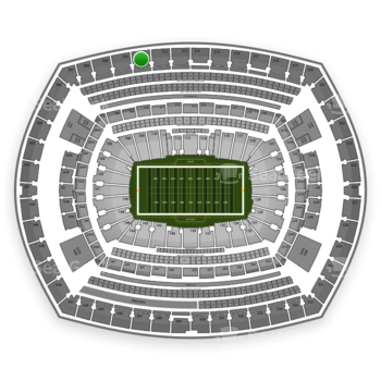New York Giants at MetLife Stadium Section 311 View