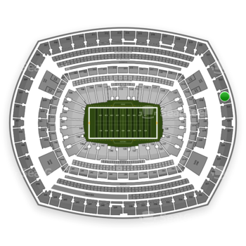 New York Giants at MetLife Stadium Section 324 View