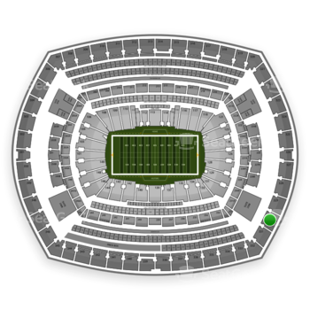 New York Giants at MetLife Stadium Section 330 View