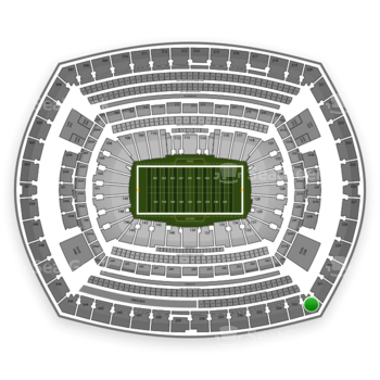 New York Giants at MetLife Stadium Section 332 View