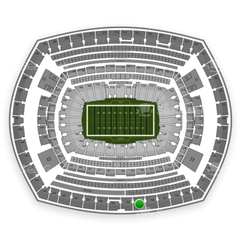 New York Giants at MetLife Stadium Section 337 View