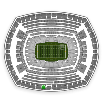 New York Giants at MetLife Stadium Section 340 View