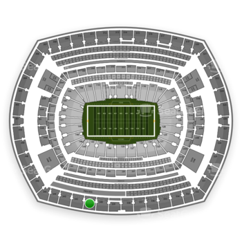 New York Giants at MetLife Stadium Section 341 View