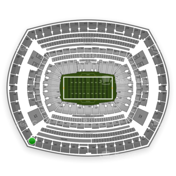 New York Giants at MetLife Stadium Section 345 View