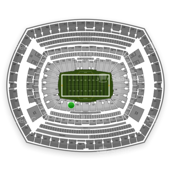 NFL at MetLife Stadium Section 142 View