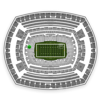 New York Giants at MetLife Stadium Section 103 View