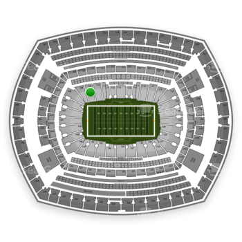 New York Giants at MetLife Stadium Section 109 View