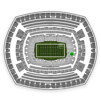 New York Giants at MetLife Stadium Section 128 View