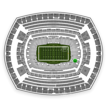 New York Giants at MetLife Stadium Section 129 View