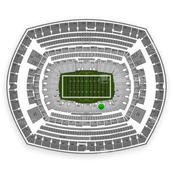 New York Giants at MetLife Stadium Section 135 View