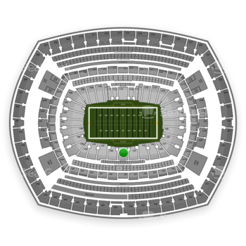 New York Giants at MetLife Stadium Section 139 View