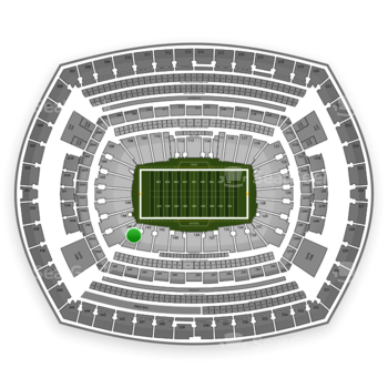 New York Giants at MetLife Stadium Section 144 View