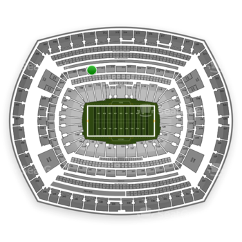 New York Giants at MetLife Stadium Section 210 View