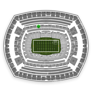 New York Giants at MetLife Stadium Section 211 View