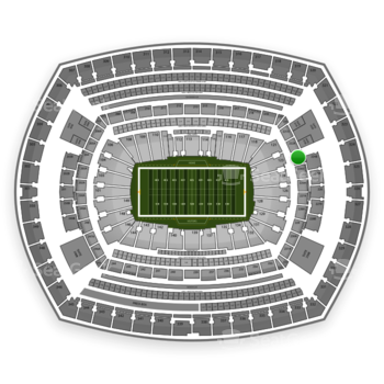 New York Giants at MetLife Stadium Section 223 View