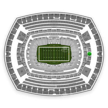 New York Giants at MetLife Stadium Section 226 View