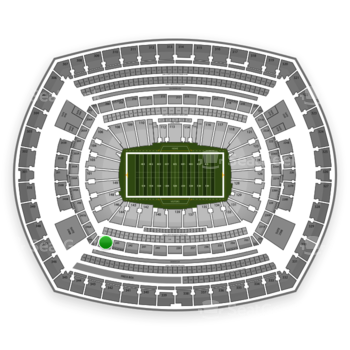 New York Giants at MetLife Stadium Section 244 View
