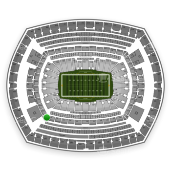 New York Giants at MetLife Stadium 245 C View