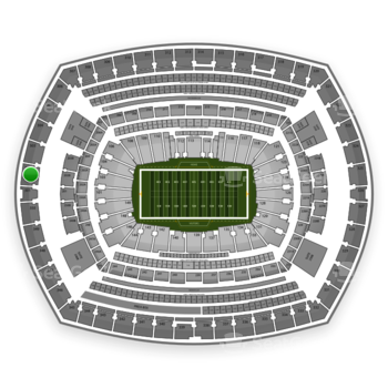 New York Giants at MetLife Stadium Section 302 View