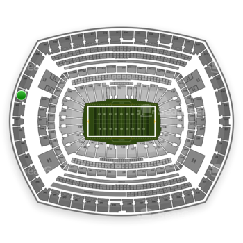 New York Giants at MetLife Stadium Section 303 View