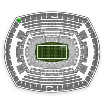New York Giants at MetLife Stadium Section 307 View