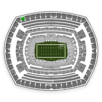 New York Giants at MetLife Stadium Section 308 View