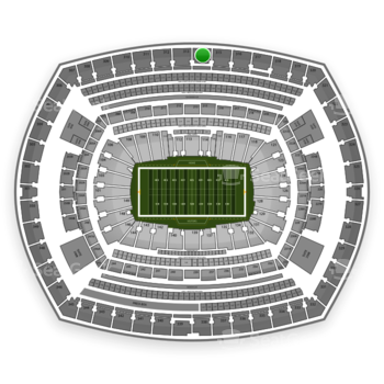New York Giants at MetLife Stadium Section 314 View