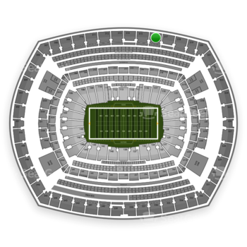 New York Giants at MetLife Stadium Section 316 View