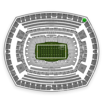 New York Giants at MetLife Stadium Section 320 View