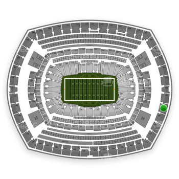 New York Giants at MetLife Stadium Section 328 View