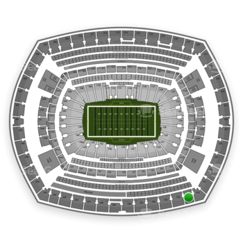 New York Giants at MetLife Stadium Section 333 View