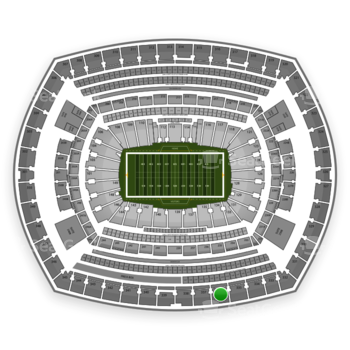 New York Giants at MetLife Stadium Section 336 View