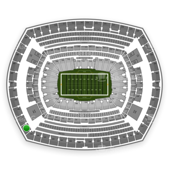 New York Giants at MetLife Stadium Section 346 View