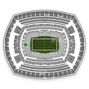 New York Jets at MetLife Stadium Section 101 View