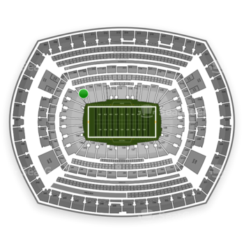 New York Jets at MetLife Stadium Section 108 View