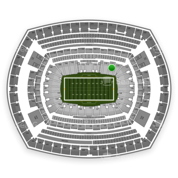 New York Jets at MetLife Stadium Section 117 View