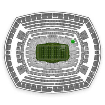New York Jets at MetLife Stadium Section 121 View