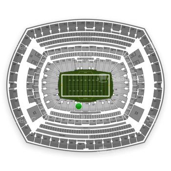 New York Jets at MetLife Stadium Section 140 View