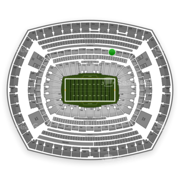 New York Jets at MetLife Stadium Section 217 View