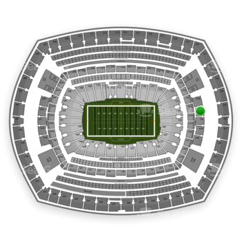 New York Jets at MetLife Stadium 225 B View