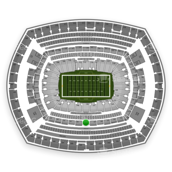 New York Jets at MetLife Stadium Section 239 View