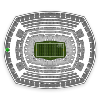 New York Jets at MetLife Stadium Section 301 View