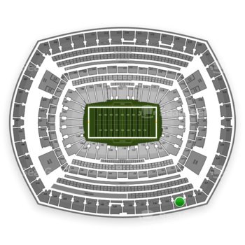 New York Jets at MetLife Stadium Section 334 View