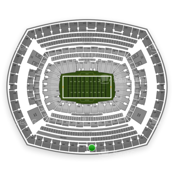 New York Jets at MetLife Stadium Section 338 View