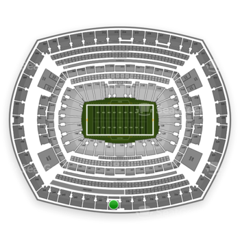 New York Jets at MetLife Stadium Section 339 View
