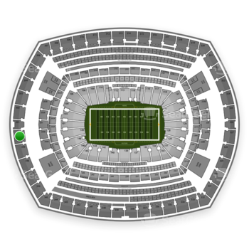 New York Jets at MetLife Stadium Section 350 View